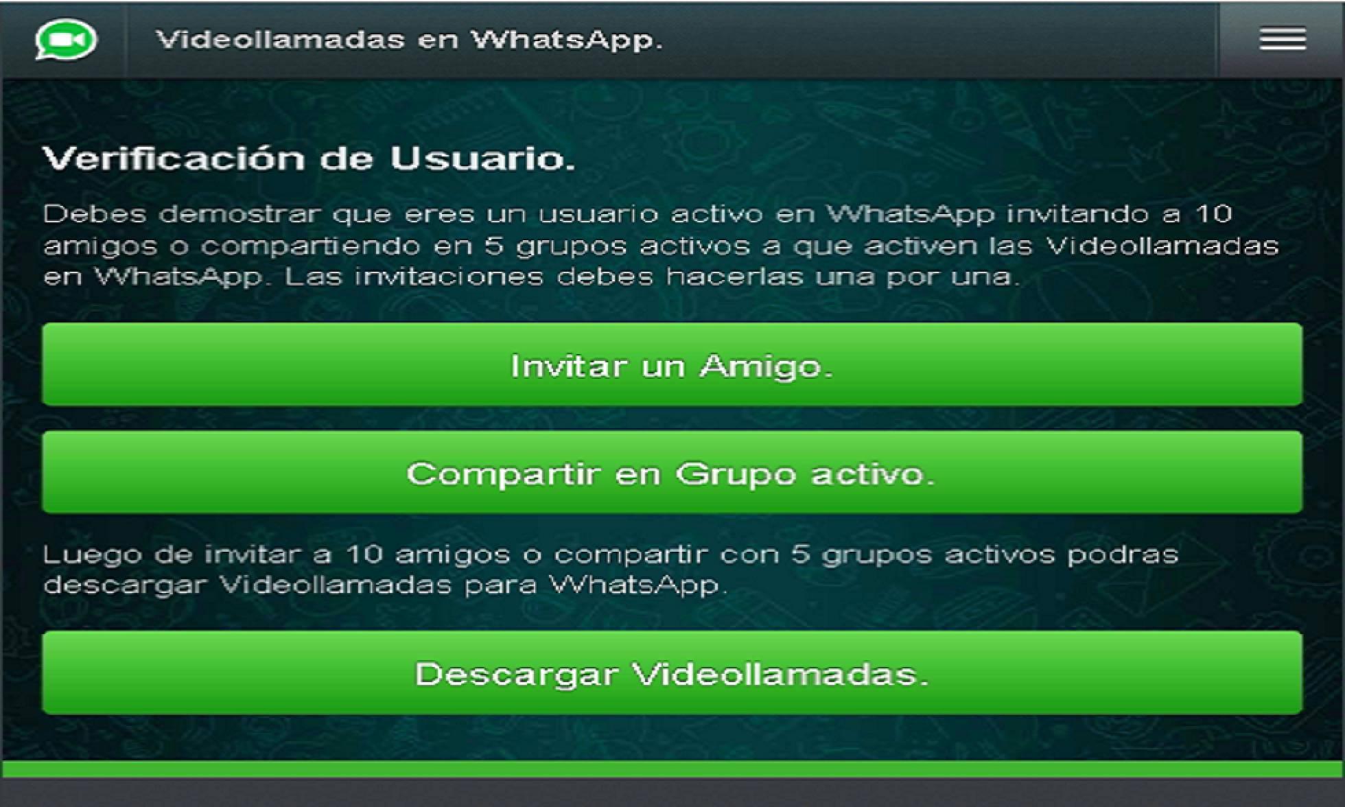 fraude con supuestas videollamadas para Whatsapp