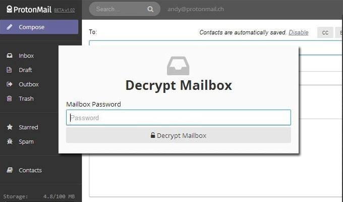 correo electrónico 100% encriptado