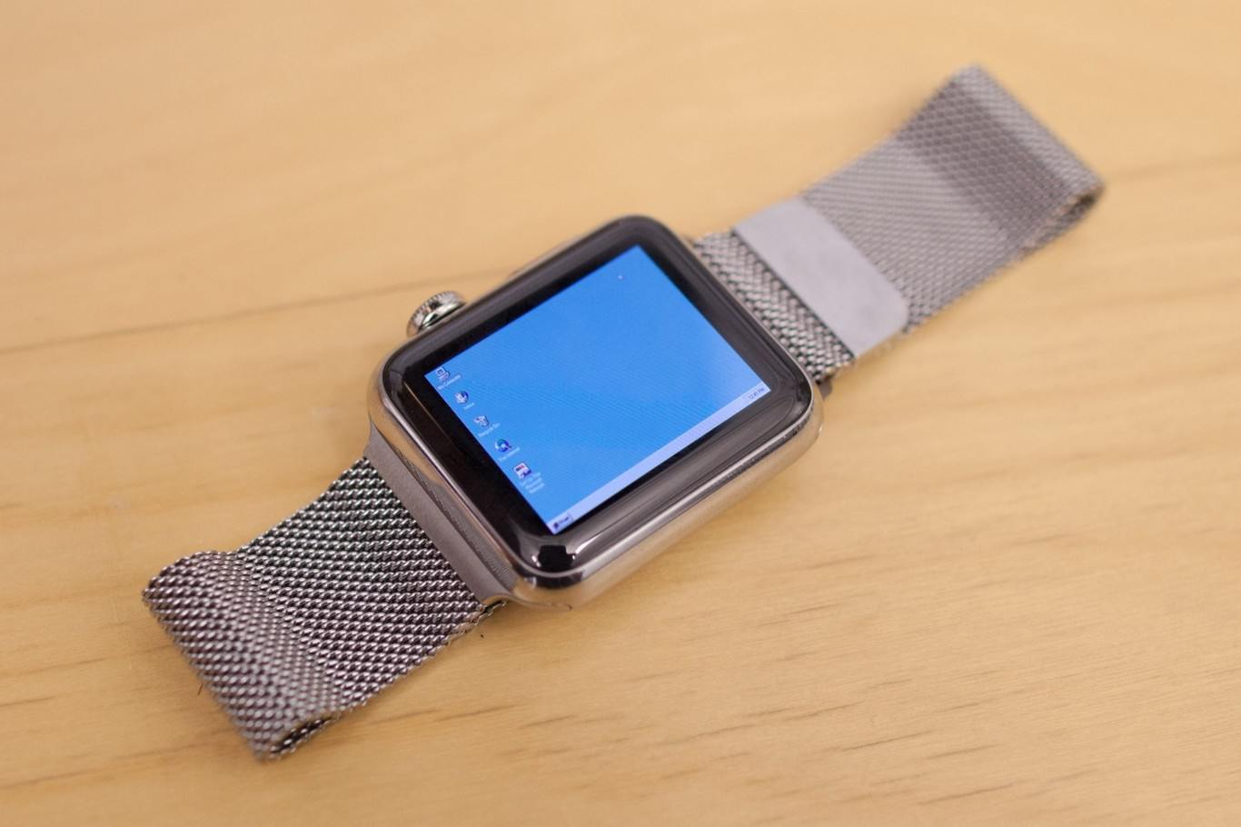 Windows 95 ejecutándose en un Apple Watch