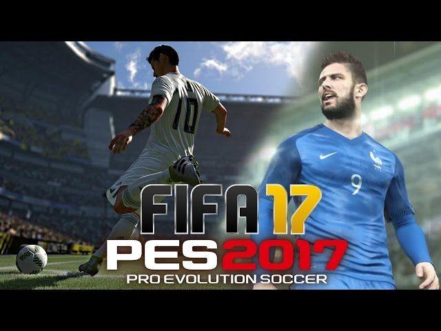 FIFA 17 vs. PES 2017