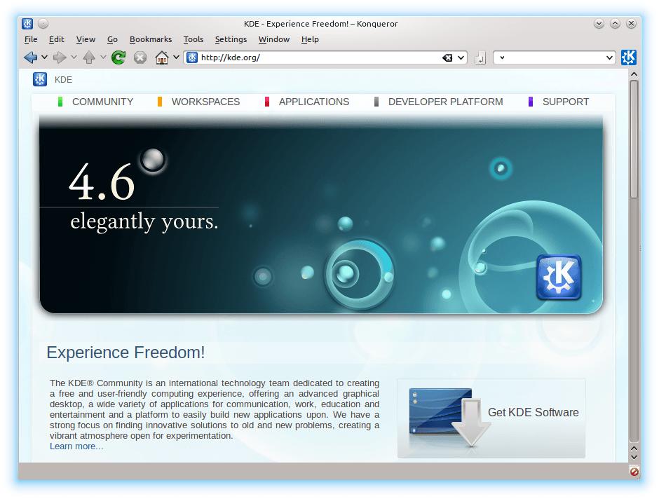 Konkeror, un navegador que promete mucho como reemplazo para el IE