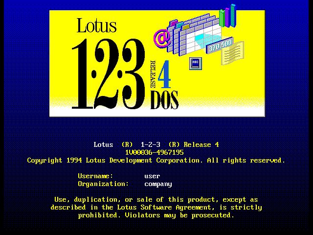 El clásico Lotus 123