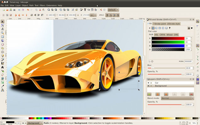 Inkscape, una de las más populares alternativas a Adobe Photoshop para Linux