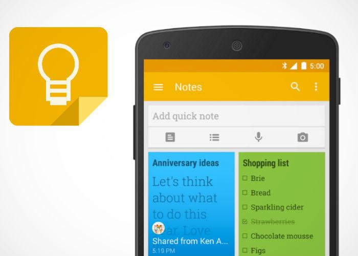 Google Keep es sin dudas una de las mejores alternativas a Evernote