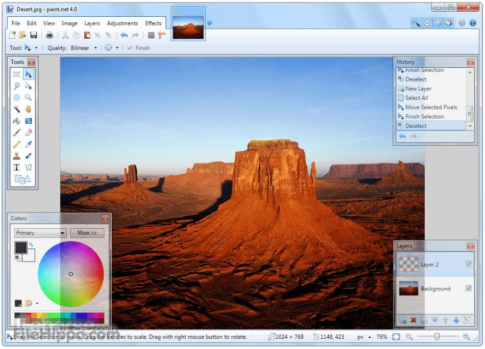 Paint.net, una de las más conocidas alternativas a picture manager de Microsoft