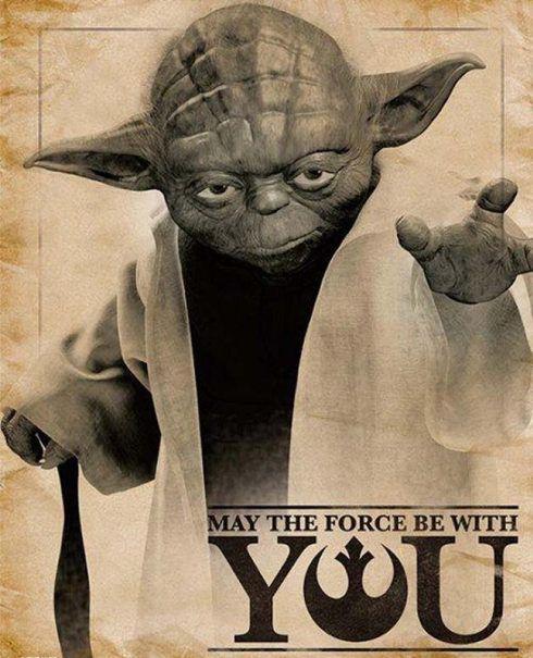 """Maestro Yoda de Star Wars, uno de los íconos asociados a la frase """"Que la fuerza te acompañe"""""""