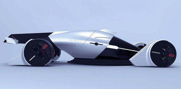 Tesla T1, un coche futurista de carreras basado en energía eólica