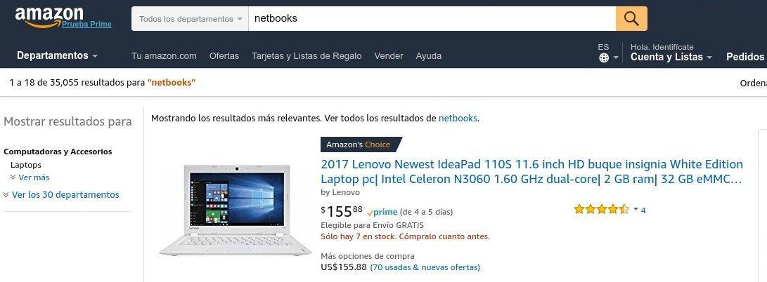 amazon.com, el sitio número 1 de ventas online a nivel de ecommerce