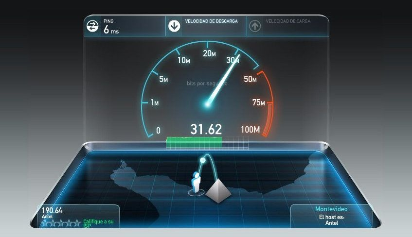speed test de fibra optica de 30mbps