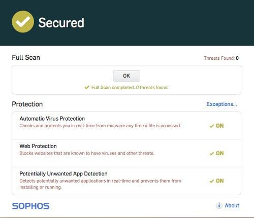 sophos, uno de los 5 mejores antivirus para mac