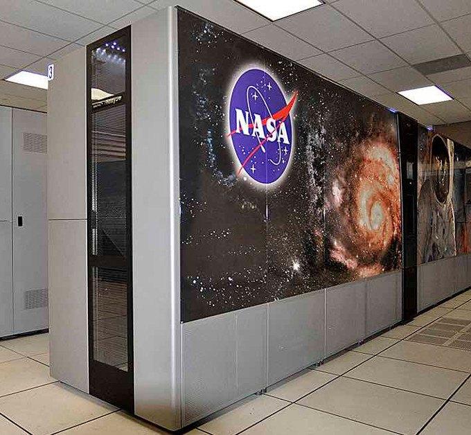supercomputadora moderna de la NASA en acción