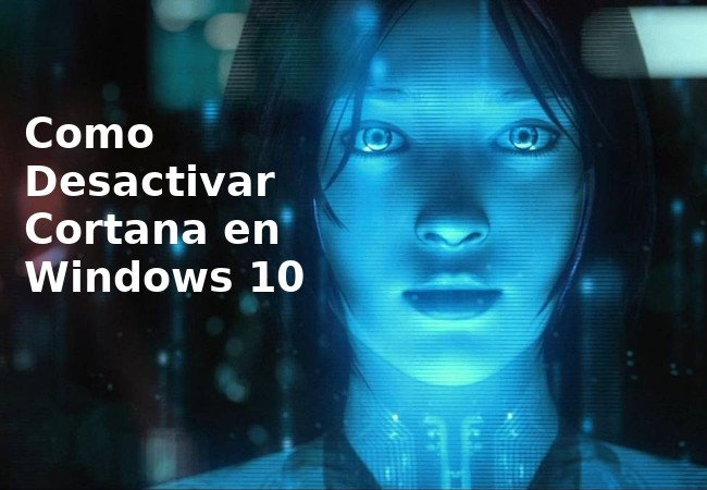desactivar cortana windows 10