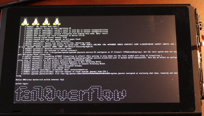 nintendo switch linux