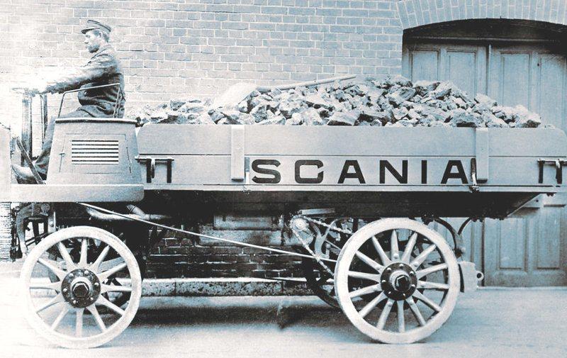 Scania de 1902, el primer camión de transporte