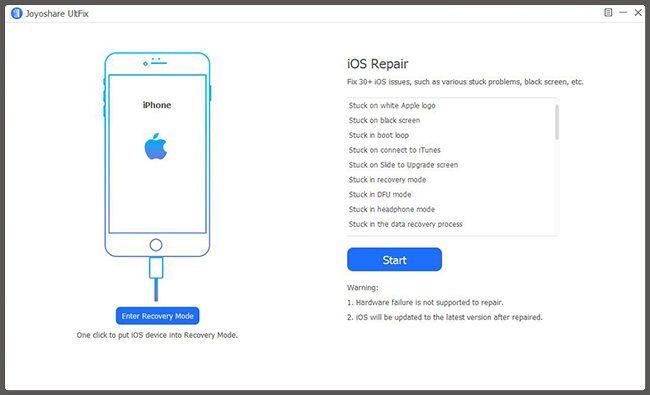 iOS reparacion por comenzar