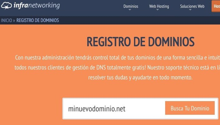 registrar dominio web