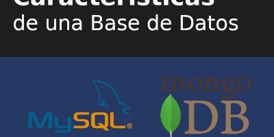 Características de una base de datos