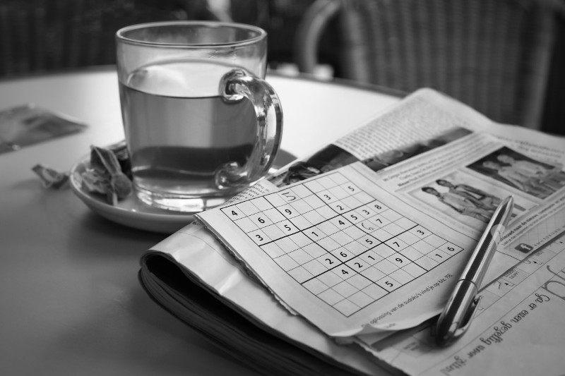 Fig. 01: Imágen ilustrativa del clásico juego sudoku en un diario