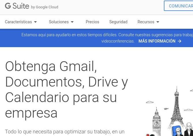 Gsuite, el correo corporativo de Google