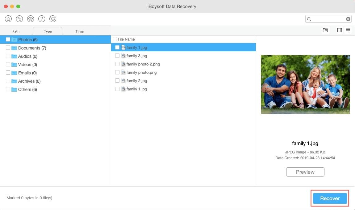 Recuperación de datos perdidos en Mac - Paso 03