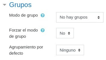 Configuración de grupos