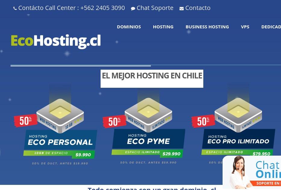 ecohosting, dicen ser el mejor hosting en chile
