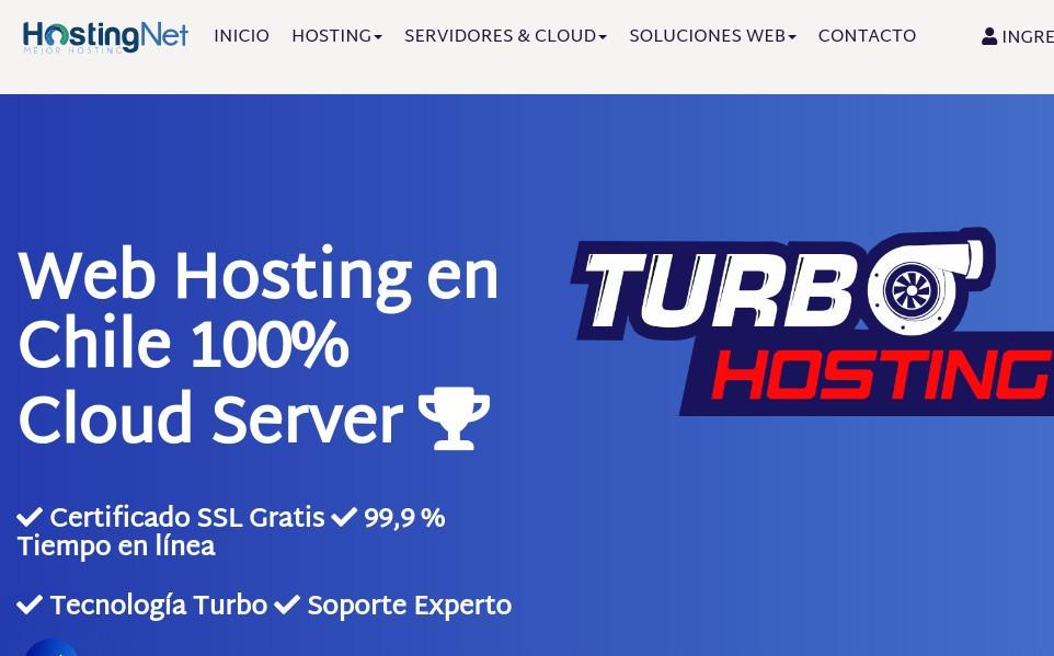 hostingnet, otro proveedor chileno de alojamiento web